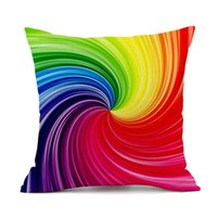 Cushion Decorative Pillow Geometric Rainbow Pillowcases Cushion Cover Home Decoration Nordic Ins Polyester Linen Sofa Car Seat Throw Covers