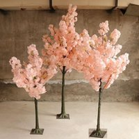 Fleur artificielle Souhaitant des arbres Simulation des arbres Cherry Blossom Arbre Roman Colonne Road Mads Sakura pour Wedding Mall Ouvert accessoires Decorative Flowe