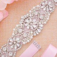 Rhinestones Handmade Belt Wedding Accessories Marriage Bridal Sashes Sash For Party Dress