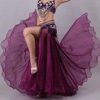 Mode Fitness Dance Dressing Europäer und Amerikanisch Neue Kleidung Sexy Schlitz Walzer Tanz Kleid Tanzen Kleid Performance Rock Platz Square Bauch S