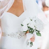 2021 High Quality Romatic New Sparkly Bridal Dress Decoration belts Supplies Rhinestone Crystal Wedding Accessory Organza Sashes for Bridal