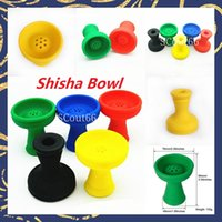 Shisha Silicone Bowl Smoking Hookah Head Bowls bag Cigarretes Tool Replacement Bong Accessories General Specification Multi Colors Tinfoil in stock