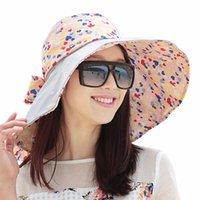 Sedancasesa 2021 Forma Design Flower Foldable Foldable Sun Chapéu de Verão Chapéus para Mulheres Ao Ar Livre Proteção UV WG014191 BRIG larga