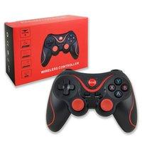 Terios T3 Joystick Sem Fio Gamepad PC Game Controlador Suporte Bluetooth BT3.0 para Telefone Celular Tablet TV Box Holder