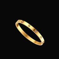 Bangle Armband Zehn Arten von Diamantschmuck und K-Gold Inlaid Diamonds sind für Männer Frauen Shunxin2014888 Gold