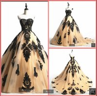 2021 real picture champagne tulle ball gown prom dresses black lace appliques princess puffy corset elegant party dress south african sweet 16 quinceanera gowns