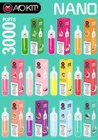 Aokit Nano Original Einweg Zigaretten 3000Puff 8ML 5% Kapazität 1100mAh Batterie VS Gunnpod Bang XXL Geek Bar Hzko Idol Flum Float