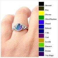 Wechseln Sie Stimmung Ring Runde Emotion Gefühl Veränderbare Ringe Temperatur Kontrolle Edelsteine Farbwechsel Schmuck