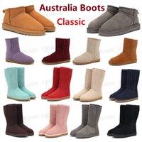Designer Australian uggs gg Locomotive Bottes Dune Mini Boucle Boot Australie WGG Femmes Femmes Femmes Girls Dame Boot De Neige Demi-genou Short 22 #