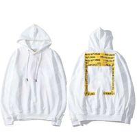 Designer de luxo fora da linha de seta clássico Katoen hip hop Heren top hoodie casal preto e branco impresso homens e mulheres encapuçado casual fivela