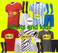 21 22 Manchester Greenwood Rashford B. Fernandes Cavani Soccer Jersey Kits 2021 Pogba Van de Beek Футбольная футболка Foug Man Deat