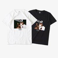 cashcarti 1PC Street Wear Mens Fashion Hiphop Rap Star Cool T-shirt Short Sleeve Unisex Rapper Fan Club Top Vintage Tee