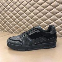 2021 Yüksek Kaliteli Erkekler Hakiki Deri Baskı Deri Panel Kıdemli El Yapımı Spor Ayakkabı Rahat Spor Ayakkabı Için Yeni Moda Dikiş Renk