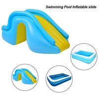 Pool & Accessories Inflatable Waterslide Wider Steps Swimming Supplies Slide Bouncer Castle Waterslides Kids Water Play Recreation Facility