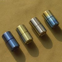 Outdoor Gadgets Mini Size Titanium Knife Beads Alloy Small Paracord Accessory Pendant Bead