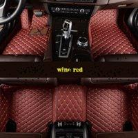 RHD Alfombras para Chevrolet Lova RV PQA FBHFGV VEDGDC Mats de cuero impermeable Cojinetes de cuero personalizado Auto Accesorios Interior Piezas de alfombras