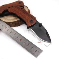 DA33 Pocket Pieghevole Blade Blade Coltello Camping Regalo 440C Piccolo manico in acciaio Caccia in legno EDC Sopravvivenza all'aperto DGANT
