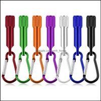 Основные фонарики для ключей и пешеходные спорты OutdoorsOwsOlsale Мини Портативный Светодиодный Фонарик Кемпинг Брелок House Light Lamp Carbiner Pocket