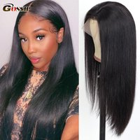 Lace Wigs Glueless Straight Front Wig Bone Transparent Frontal Human Hair T Part For Women 180 Density Remy