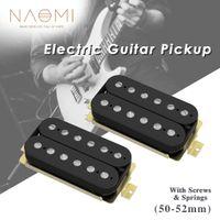 NAOMI 2pcs Neck-Bridge Humbucker Double Coil LP Electric Guitar Pickups Set Ceramic Magnet w  Height Adjustable Screws