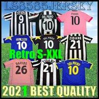 Retro 84 85 92 95 96 97 98 98 Del Piero Montero Jersey di calcio 99 02 03 11 12 15 16 16 Zidane Camicia da calcio Platini Inzaghi Rossi Vieri Davids Men 2015 2016 Uniforme di alta qualità