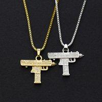 Uzi الزركونيوم الماس قلادة قلادة الهيب هوب شخصية الرشاشات الملحقات المجوهرات الإبداعية هدية