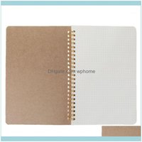 Notes Notepads Supplies Business & Industrialnotepads 1 Pc A5 Notebook Kraft Dot Grid Time Management Blank Book Spiral Journal Weekly Plann