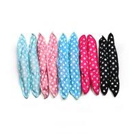 DHL Night Sleep Soft DIY Styling Foam Roller Tools Magic Flexible Curler Innovative Hair Rollers Polka Dot
