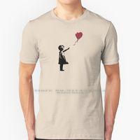 Men's T-Shirts Girl With Red Balloon , Banksy Streetart Street Art Grafitti Artwork Design For Men Women Kids T Shirt 100% Pure