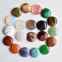 Cristal Natural Pedra Semipreciosa 20mm Opala Rosa De Quartzo Turquesa Remendo Cara para Colar De Pedra Natural Anel Earrings Jóias Fazendo