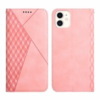 Skin Feel Diamond Grain Leather Wallet Cases For iPhone 13 12 Pro MAX Mini 11 XR XS X 8 7 6 Cute Credit ID Card Holder Flip Cover Suck Magnetic Closure Mobile Phone Purse
