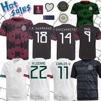 2021 Мексика Футбол Джерси Чичарито 20 21 Лозано Dos Santos Gold Cup CamiSetas Home Away Football Рубашка для взрослых мужчин носить