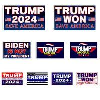 3 * 5 ft Trump ha vinto flag 2024 Bandiere elettorali Donald The Mogul Salva America 150 * 90cm Banner
