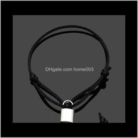 Charm Drop Delivery 2021 Fashion Lock Hand Rope Promise Bracelets Pulsera For Mens And Women Party Wedding Ankle Jewelry Lovers Gift Wjl0947