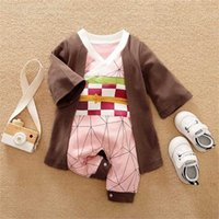 Dragon DBZ Anime Baby Clothes Full born Girl Boy Outfit Cosplay Overalls Halloween Costume Jumpsuit Infant Rompers 211011
