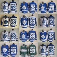 Toronto Maple Leafs Hokey Formaları 93 Doug Gilmour Jersey Erkekler 64 Stanleycup 29 Felix Potvin Mike Palmateer Vintage Klasik