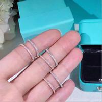 Cluster Ringe Yanhui Rose Gold Farbe CZ Finger Für Frauen Mode Stapelbare Hochzeit Erklärung Authentisches Sterling Silber 925 Schmuck