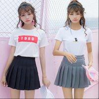 high waist pleated sweet Women Skirts lovely girl dance mini dress role play black white fashion miniskirt short