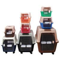 Dog Carrier handbag Shoulder bags Pet air box supplies travel case plastic cat cage big 46D2