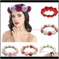 Stil Bunte Girlande Feen Schönheit Böhmen Blume Kopfbraut Porträt Corolla Hochzeit Haarband S3QGX Stirnband TYQAM