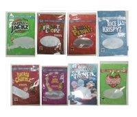 Boş Şanslı Charms Çanta Kroot Döngüler Cap'n Crunch Meyveli Çakıl Taşları Jolly Rancher Rice Krispies Toasted Tahıl Mylar Çanta Ambalaj