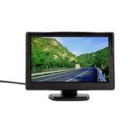 5 인치 컬러 TFT LCD 미니 자동차 후면보기 모니터 주차장 Rearview 모니터 화면 DVD VCD 리버스 카메라 무료