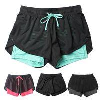 Женские брюки CAPRIS MESH Drawstring Йога бегущие шорты женщин короткие колготки спортивные спортивные женские фитнес одежда для женщин летняя спортивная одежда