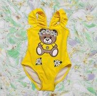 مصمم الصيف 2021 أطفال فتاة قطعة واحدة ملابس السباحة الطفل السباحة الفتيات ملابس الأطفال ملابس الأطفال قوس قزح الاستحمام بحر بيكيني