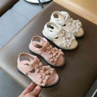 Girl Baby Sandals Little Princess Soft Bottom Fashion Summer New Korean Children's Shoes Flowers Girls Beach Shoes D02241 201113