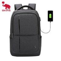 Oiwas 17-дюймовый рюкзак ноутбука с USB зарядки мужские рюкзаки большой емкости деловой детский пакет для женщин подростковых путешествий 210911
