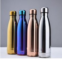HOT 500ml Cola Shaped Water Bottle Water Cup Insulation Mug 50pcs carton DHL SEND WITH LOGO
