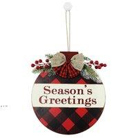 20pcs 메리 크리스마스 목조 홈 벽 문 접시 장식 접시 붉은 과일 호손 격자 dwd10872