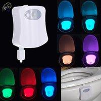 Smart badezimmer toilette nachtlicht led körper bewegung aktiviert ein- / ausseher sitz sensor lampe 8 farbe pir luken led decoracion beleuchtung