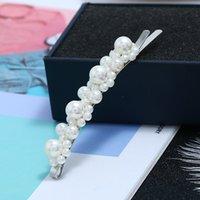 Fashion Pearl Cheveux Clip pour Femmes Élégant Coréen Snap Barrette Barrette Poilanderie Coiffure Coiffure Bijoux Accessoires 103 m2